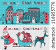 vector set of two Christmas cards - stock vector