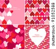 Vector set of Valentines seamless pattern - stock vector