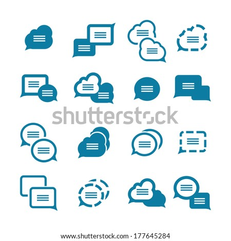 Vector set of various bubbles for speech - stock vector
