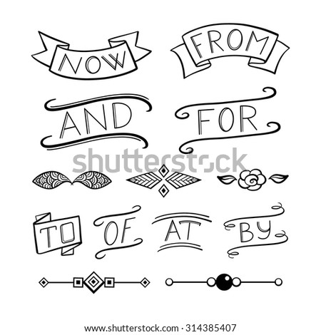 Vector set of various graphic design elements.