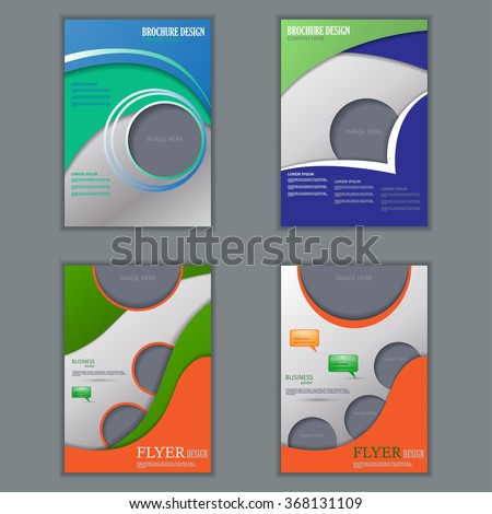 vector set vertical flyers design editable stock vector 368131109