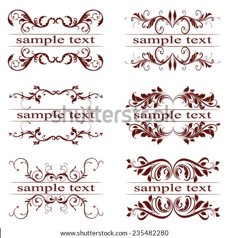 vector set of vintage elements - stock vector