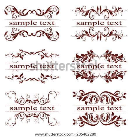 vector set of vintage elements - stock vector