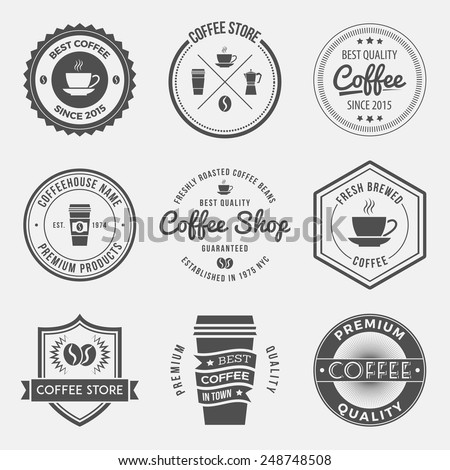 Vintage Coffee Shop Logo Retro Coffee Shop Logos