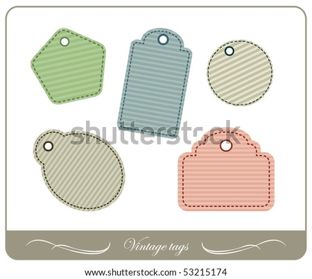 Vector set of vintage tags