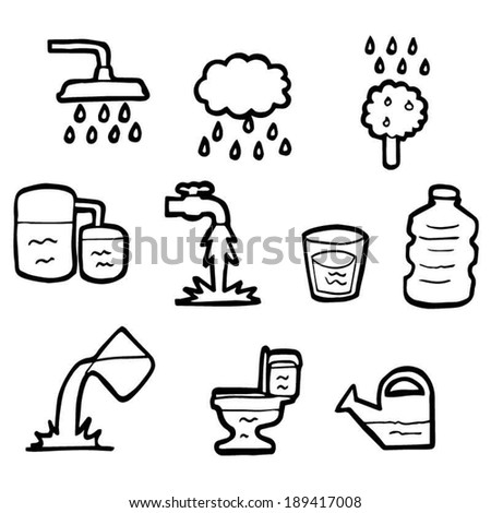 vector set of water - stock vector