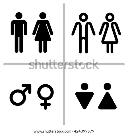 Bathroom Sign Language Symbol vector set wc icons isolated on stock vector 424099579 - shutterstock