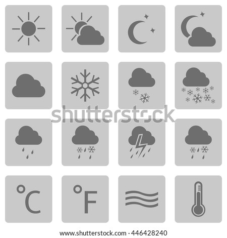 Vector Set of Weather Icons