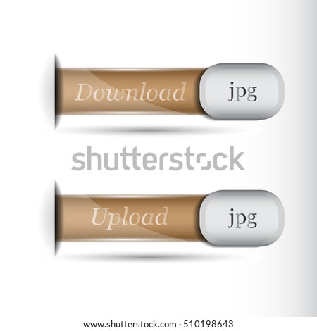 vector set of web buttons for web design.