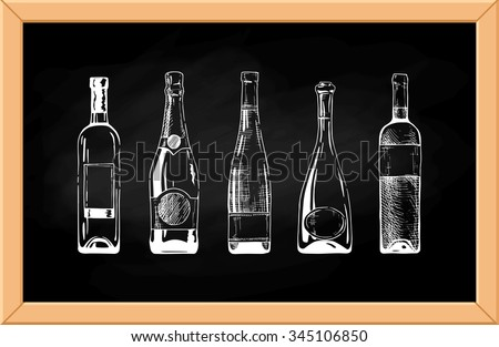 Cartoon Wine Bottle Stock Images Royalty Free Images