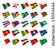 Vector set of world flags 5 - stock photo