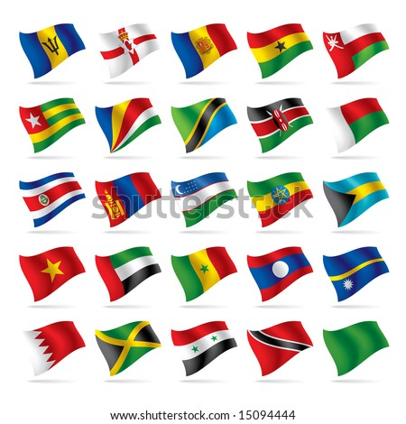 Vector set of world flags 5 - stock vector