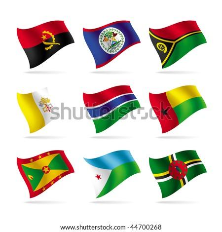 Vector set of world flags - stock vector