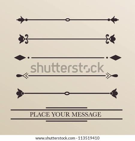 vector set: Ornament menu - stock vector