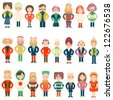 Vector set people of different age - stock photo