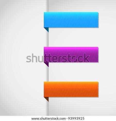 Vector set ribbons tag - EPS10 Design - stock vector