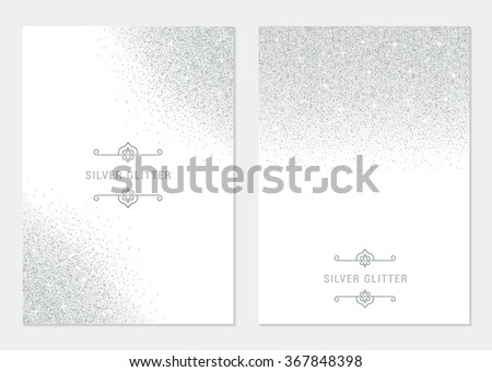 Vector set silver banner on white background. Silver and platinum card for voucher, flyers, web, vip, certificate, gift, shopping, and others premium goods. - stock vector