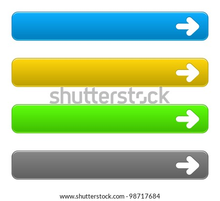 Vector set simple buttons with arrow symbol on a white background. EPS10. Used effect transparency layer of frame button