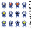 Vector Set: Sports Ribbons for Many Sports - stock vector