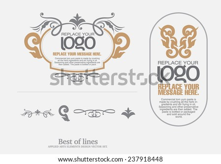 vector set: thai art design elements and page decoration - lots of useful elements to embellish your layout  - stock vector
