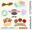 Vector Set: Vintage Carnival and Fair Labels and Icons - stock vector