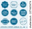 Vector Set: Vintage Drinking Water Labels With Seltzer and Mineral - stock vector