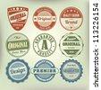 Vector set vintage labels - stock vector