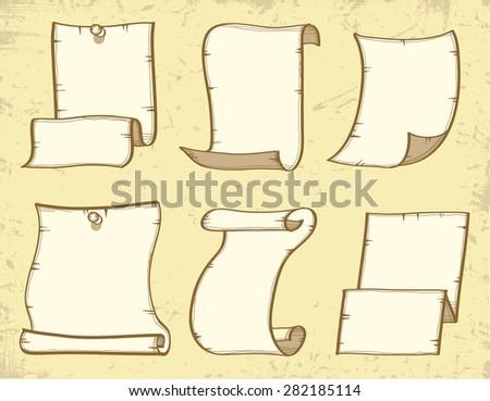 Vector set: Vintage paper designs - stock vector