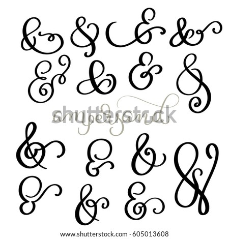Ampersand stock images royalty free images vectors Calligraphy and sign