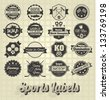 Vector Set: Vintage Sports Labels Collection - stock vector