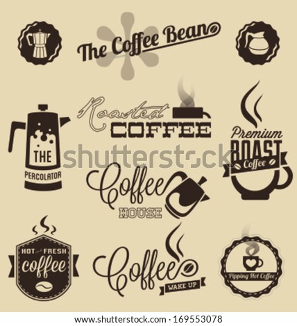 Vintage Coffee Shop Logo Vintage Style Coffee Shop