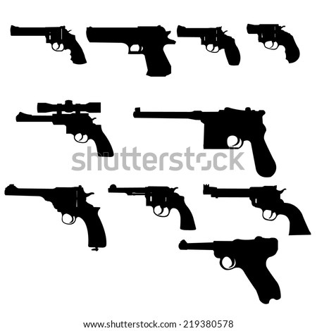 Vector Set - Weapons -Guns - stock vector