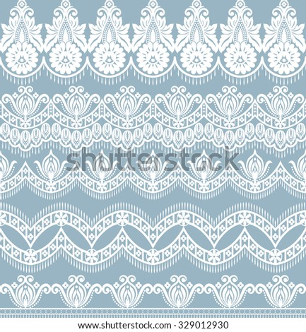 Vector set with baroque ornaments in Victorian style. Ornate element for design. - stock vector