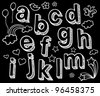 Vector set with hand written ABC letters - stock vector