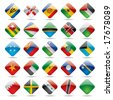 Vector set world flag icons 5 - stock photo