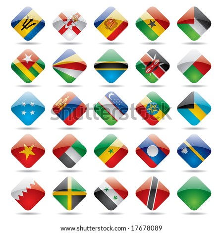 Vector set world flag icons 5 - stock vector