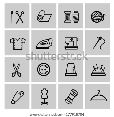 Vector sewing equipment - stock vector