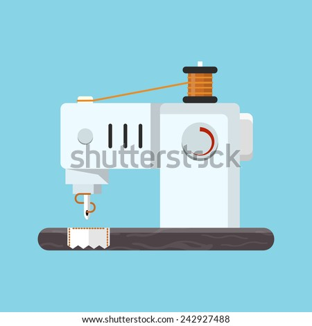 Vector Sewing Machine - stock vector