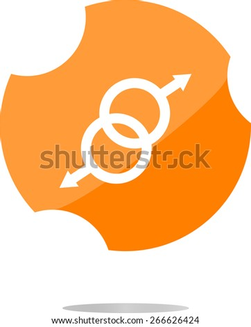 vector sex web glossy icon isolated on white - stock vector