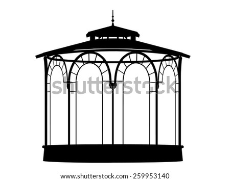 Vector shadow of a bandstand
