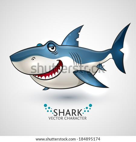 Vector shark. - stock vector