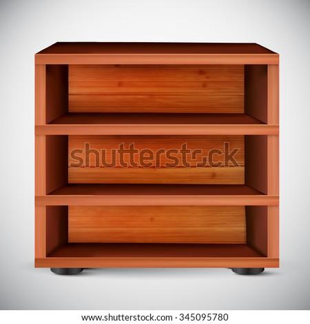 vector shelf illustration - stock vector