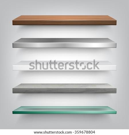Vector Shelves Collection - stock vector