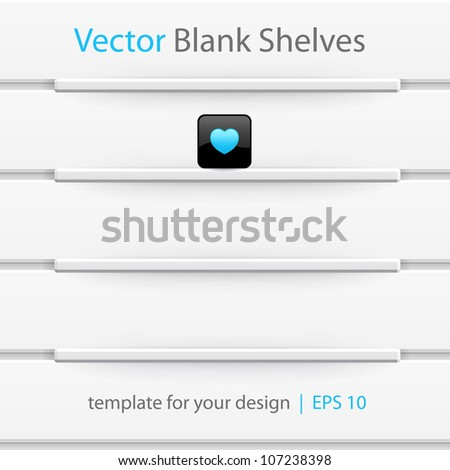 Vector shelves, template for your design. Seamless pattern. Eps10. - stock vector