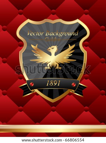 Vector shield classic background - stock vector