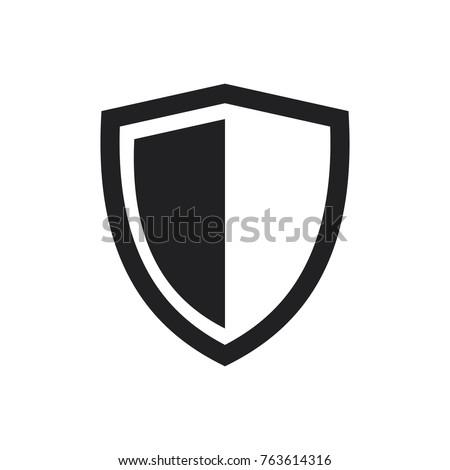 vector shield icon flat design best stock vector 2018 763614316 rh shutterstock com shield vector free shield vector shape