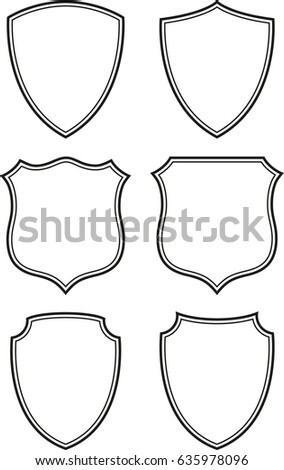 Vector Shield Label Frame Stock Vector 635978096 - Shutterstock