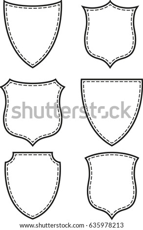 Vector Shield Label Frame Stock Vector 635978213 - Shutterstock