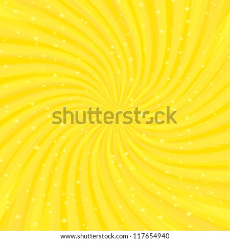 Vector shiny background with ray of light. orange background template. - stock vector