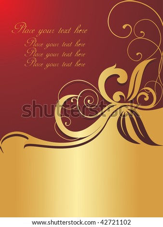vector shiny design with floral artistic background